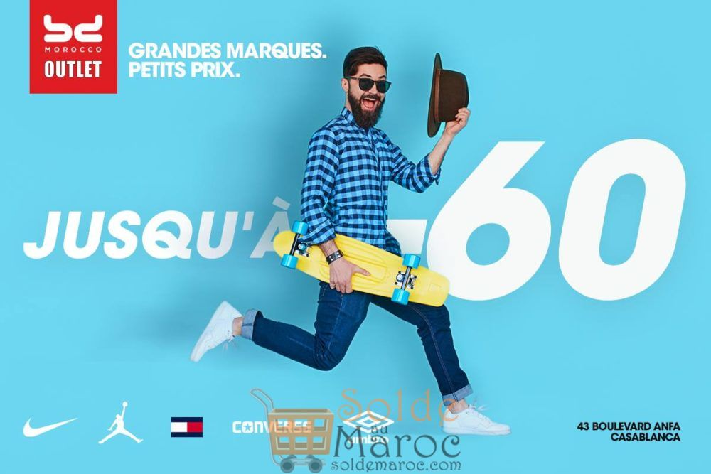 Promo Outlet BD Morocco -60% Nike, Tommy Hilfiger, Converse, Jordan et Umbro
