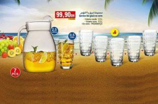 Meilleur Offre Bim Maroc Service thé Glacé en verre 99.90Dhs