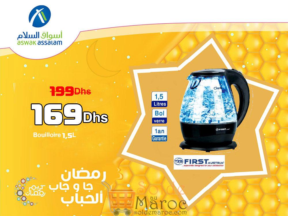 Promo Aswak Assalam Bouilloire 1,5L 169Dhs