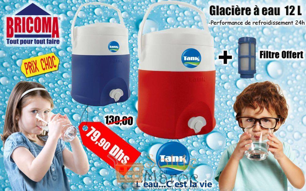 Promo Bricoma Glacière à Eau 12L TANK 79.90Dhss au lieu de 130Dhs