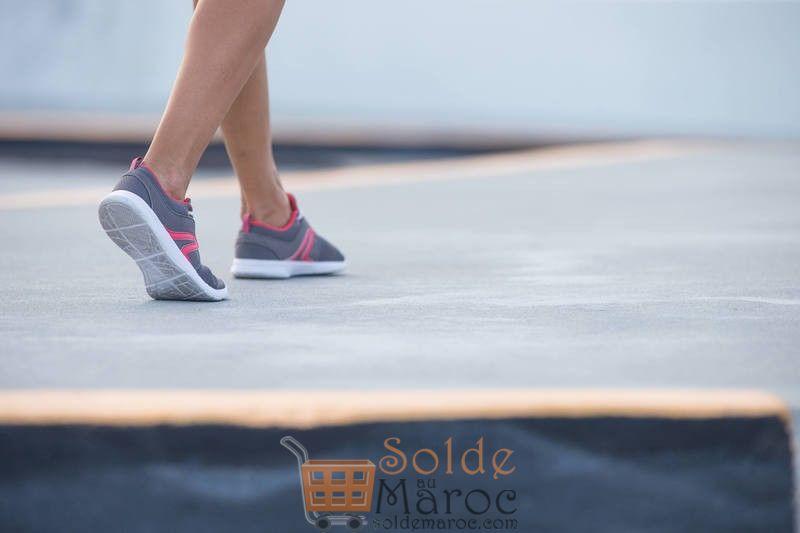 Promo Chaussures marche Sportive Femme Soft 140 Mesh Gris / Rose 149Dhs au lieu de 199Dhs