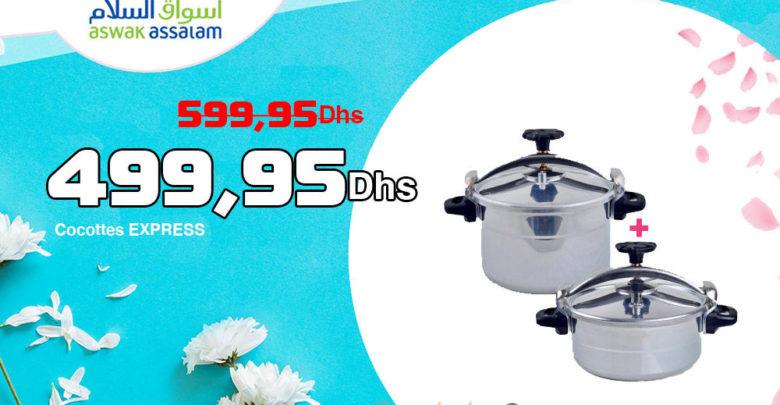 Promo Aswak Assalam Cocottes EXPRESS 499,95Dhs au lieu de 599,95Dhs