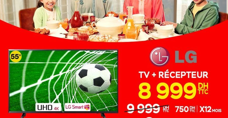 """Photo of Promo Electroplanet Smart TV LG 55"""" 4K + Récepteur Pinacle IPTV 8999Dhs"""