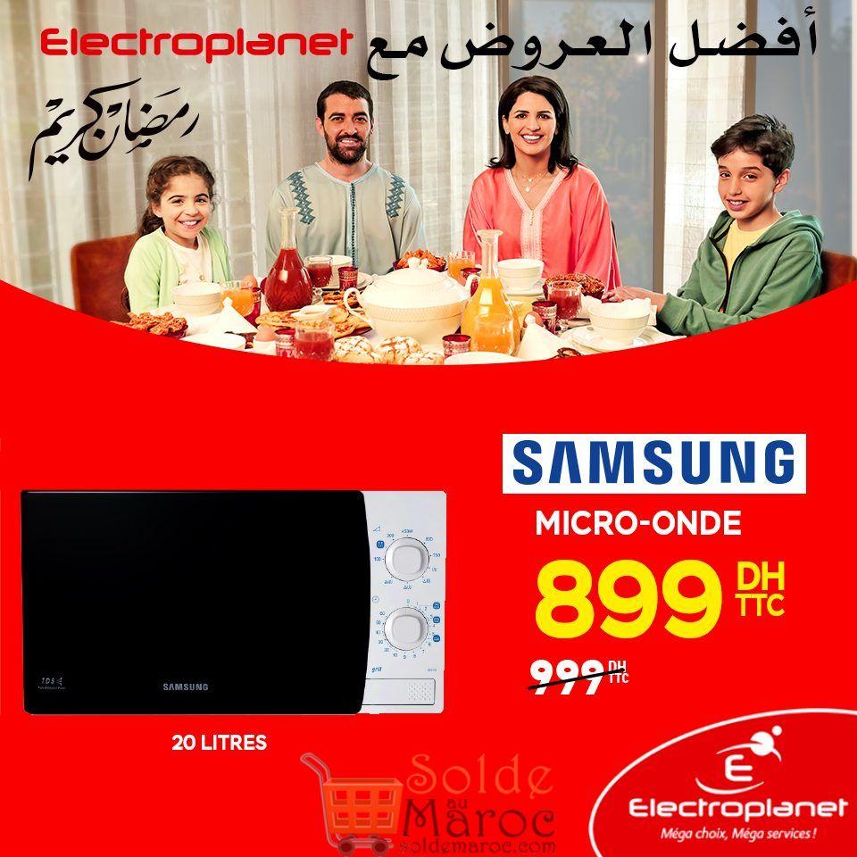 Promo Electroplanet Micro-onde Samsung 899Dhs au lieu de 999Dhs