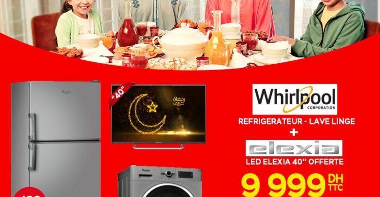 Promo Electroplanet Trio Réfrigérateur + Lave linge + Tv 40° Led 9999Dhs au lieu de 14390Dhs