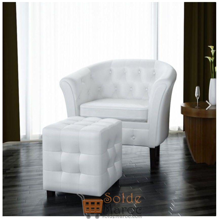 Promo Azura Home Ensemble fauteuil repose pied SUNNY 990Dhs au lieu de 1490Dhs