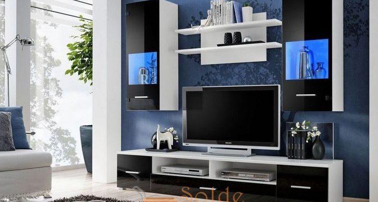 Photo of Promo Azura Home Ensemble meuble TV CORTE noir avec leds 3090Dhs