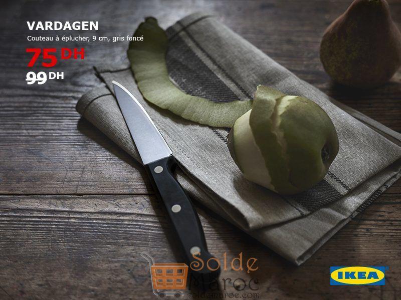Soldes Ikea Maroc Couteau à éplucher VARDAGEN 75Dhs au lieu de 99Dhs