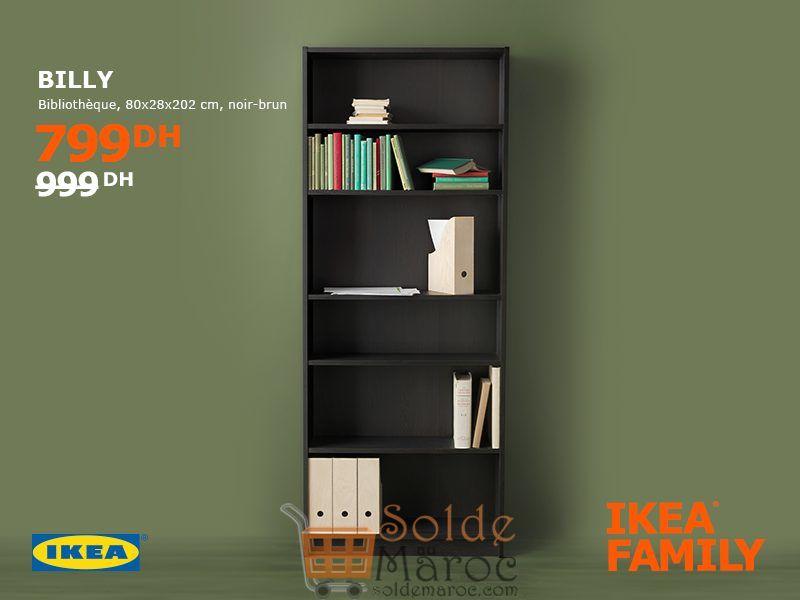Soldes Ikea Family Maroc Bibliothèque BILLY 799Dhs au lieu de 999Dhs
