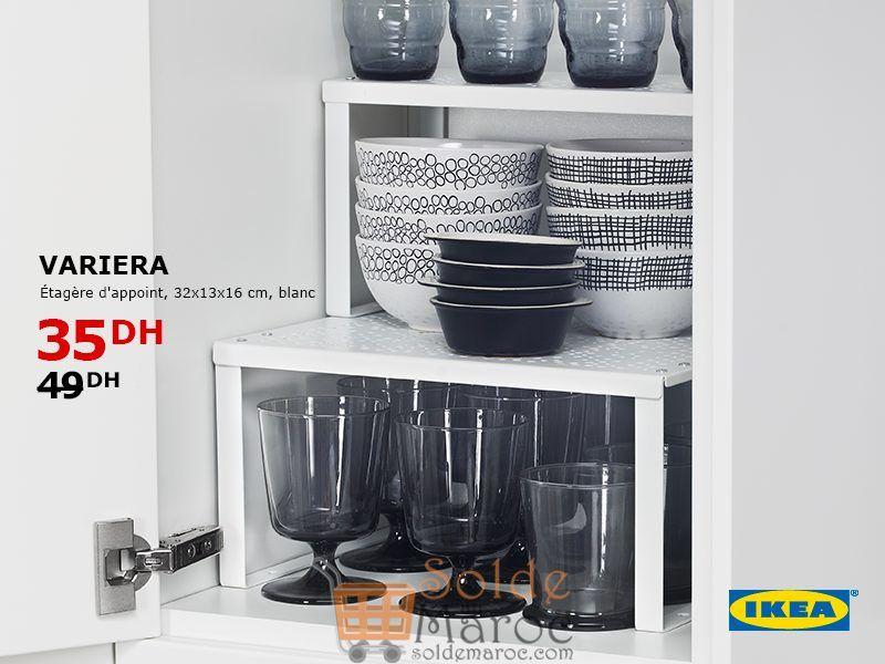 Soldes Ikea Maroc Étagère d'appoint VARIERA 35Dhs au lieu de 49Dhs