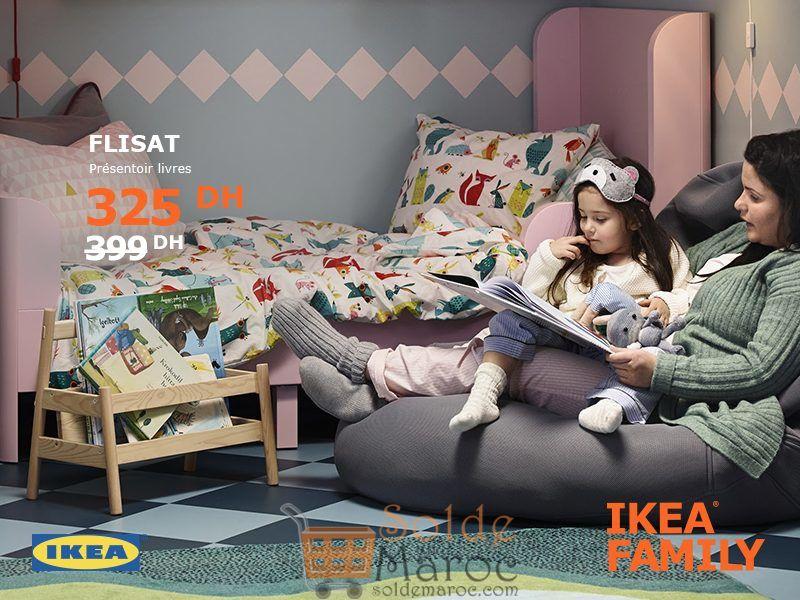 Soldes Ikea Family Maroc Présentoir Livres FLISAT 325Dhs au lieu de 399Dhs