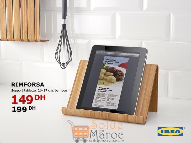 soldes ikea maroc support tablette bambou rimforsa 149dhs les soldes et promotions du maroc. Black Bedroom Furniture Sets. Home Design Ideas