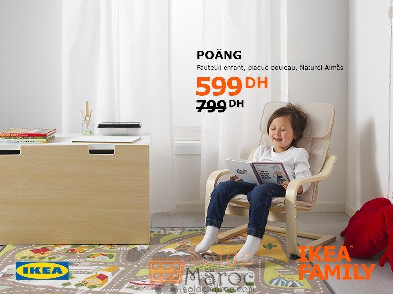 Soldes Ikea Family Maroc Fauteuil Enfant POANG 599Dhs au lieu de 799Dhs
