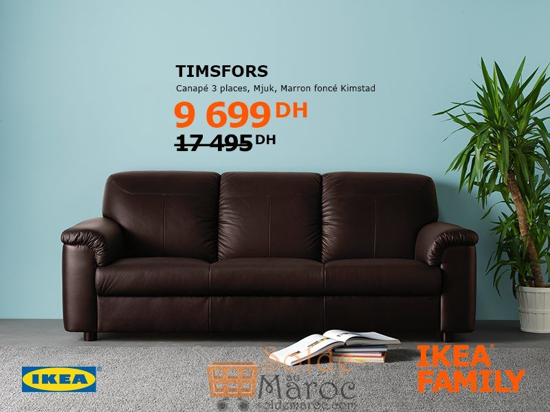 soldes ikea family maroc canap 3 places timpsfors 9699dhs. Black Bedroom Furniture Sets. Home Design Ideas