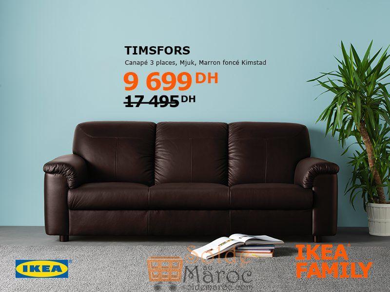 Soldes Ikea Family Maroc Canapé 3 Places TIMPSFORS 9699Dhs au lieu de 17495Dhs
