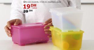Soldes Ikea Maroc Boîte avec Couvercle GLIS 19Dhs au lieu de 29Dhs