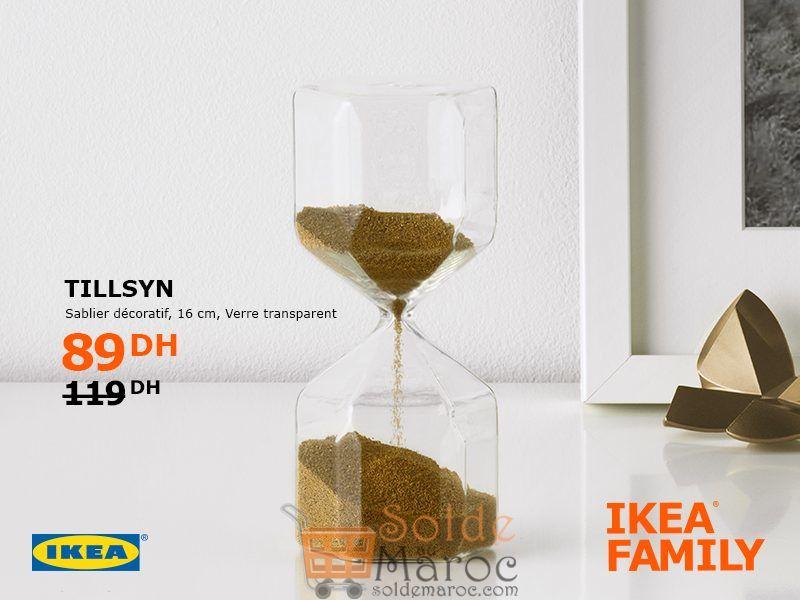 Soldes Ikea Family Maroc Sablier Décoratif TILLSYN 89Dhs au lieu de 119Dhs