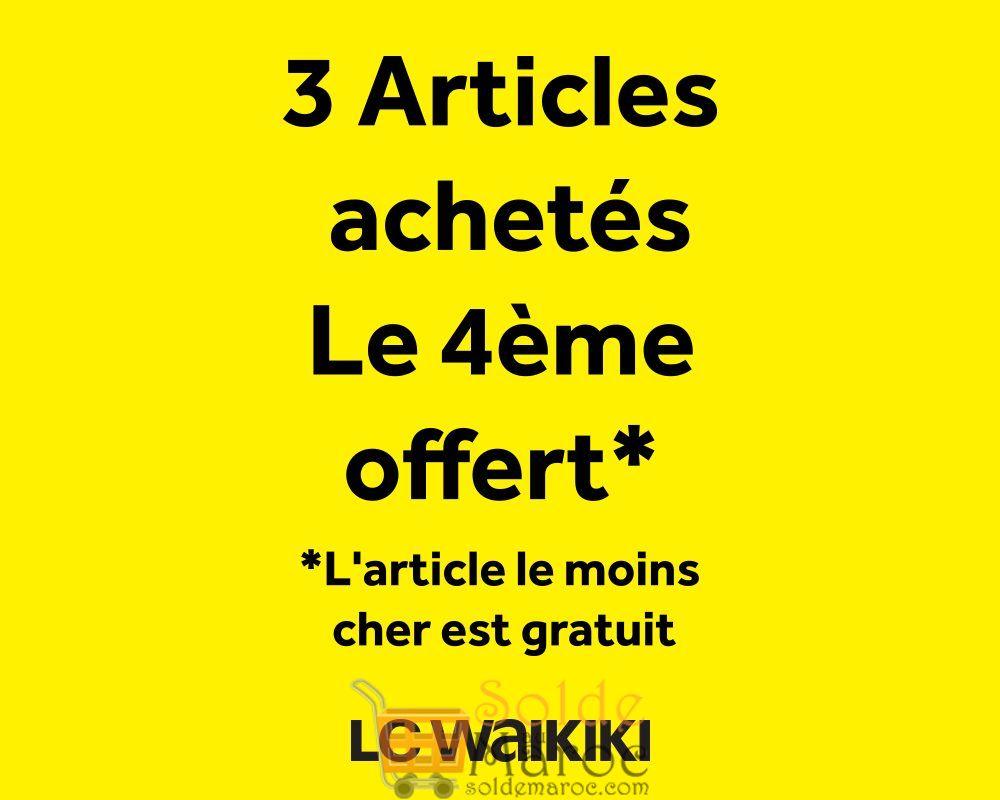 Soldes LC Waikiki Maroc 3 Articles achetés le 4ème Offert