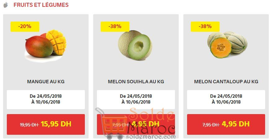 Offres du Moment chez Leader price Maroc Fruits et Légumes