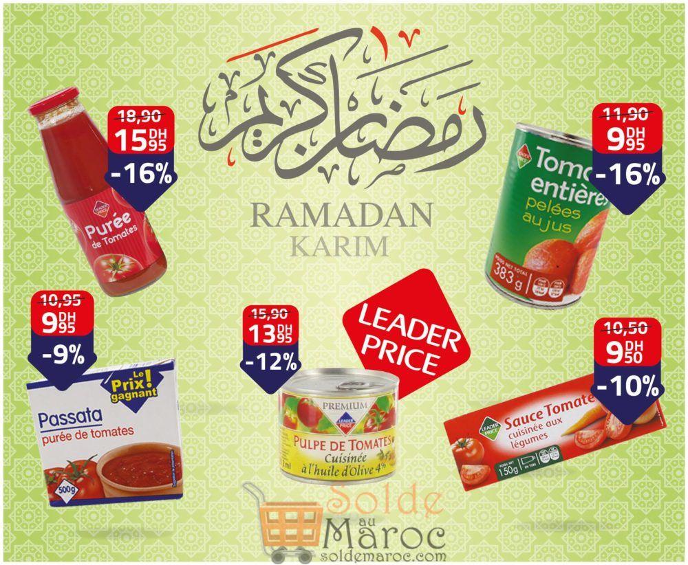 Promo Spéciale Leader Price Maroc concassée concentrée ou en purée de Tomate