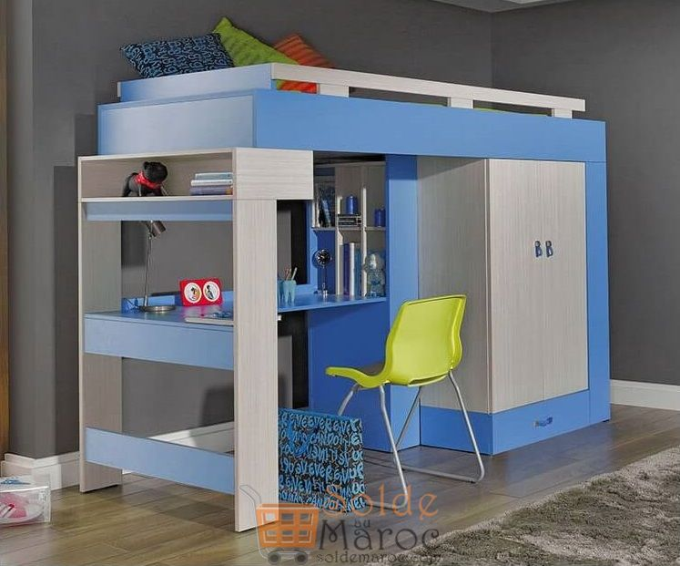 Promo Azura Home Lit superposé, armoire et bureau pour enfants 4492Dhs au lieu de 5990Dhs