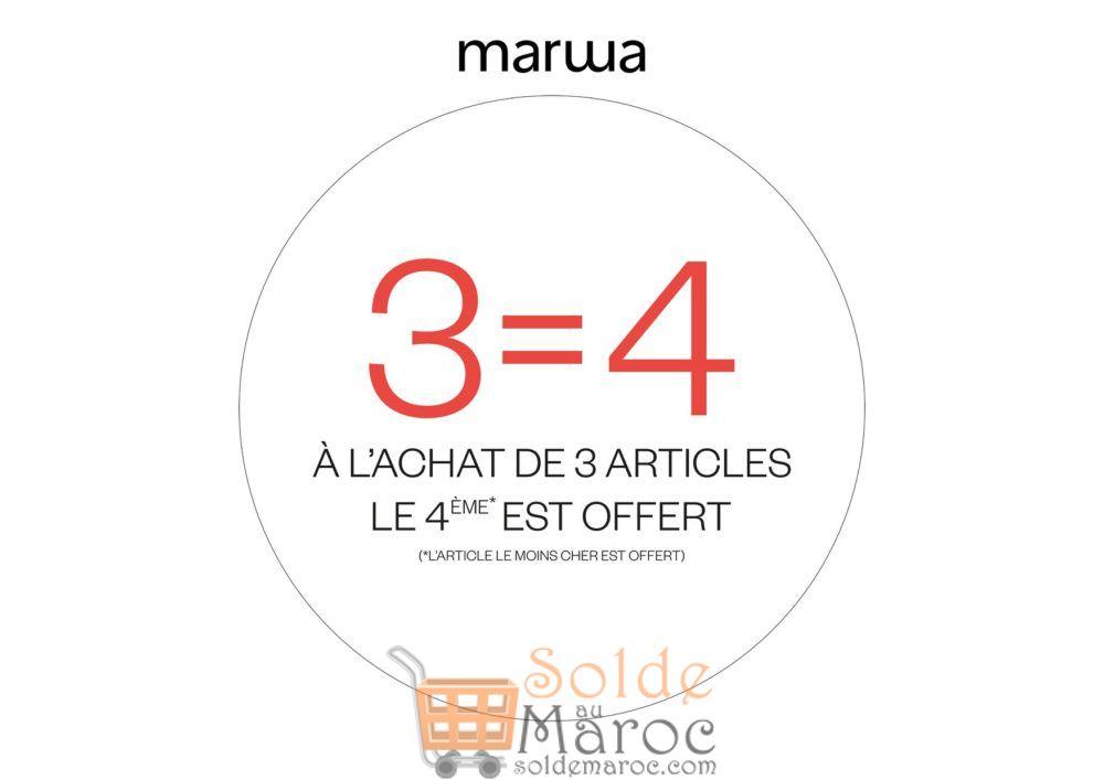 Promo Marwa Maroc à l'achat de 3 Articles le  4ème est Offert