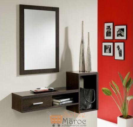 Promo Odesign Meuble d'entrée avec miroir Stylus 1650Dhs au lieu de 1800Dhs