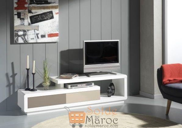 Promo ODesign Meuble TV design laqué 170cm 3700Dhs au lieu de 4500Dhs