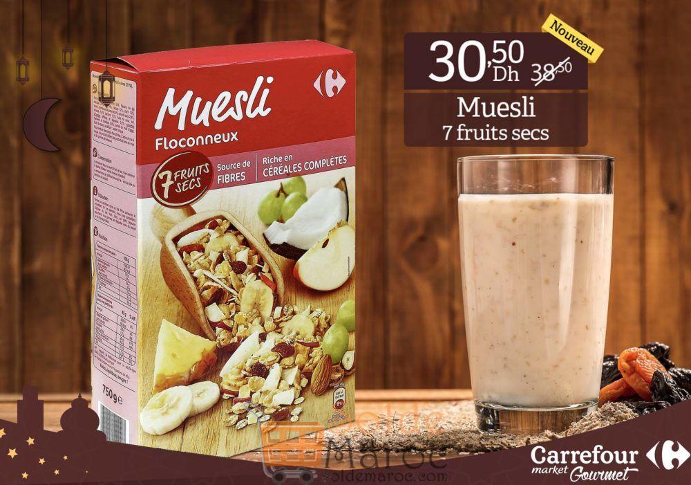 Promo Carrefour Gourmet Muesli Floconneux 30.50Dhs au lieu de 38.50Dhs