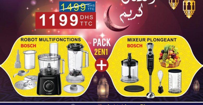 Photo of Offre Spéciale Electro Bousfiha Pack Bosch Robot Multifonctions + Mixeur Plongeant 1199Dhs