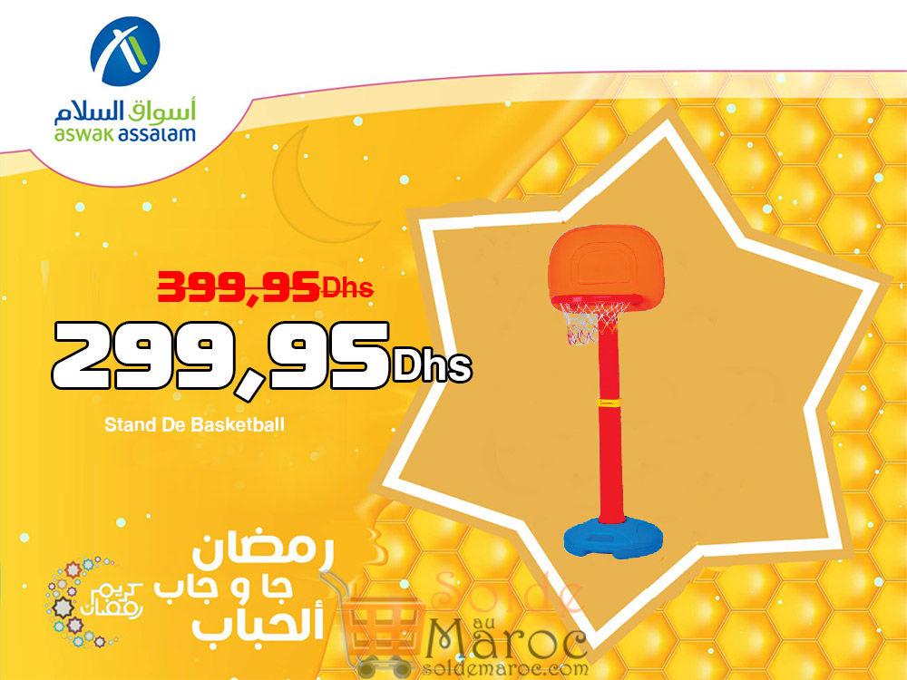 Promo Aswak Assalam Stand De Basketball 299,95Dhs au lieu de 399,95Dhs