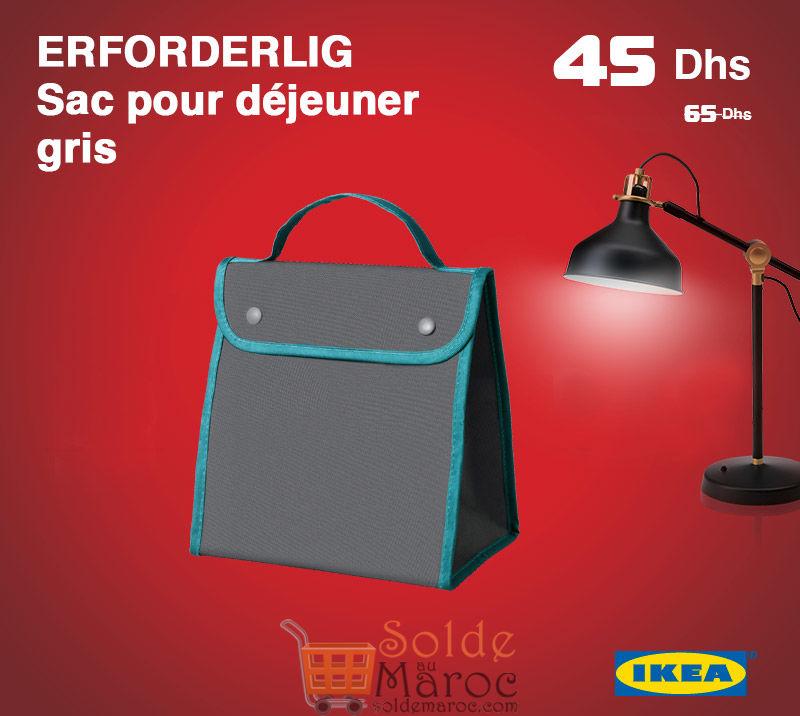 Promo Ikea Maroc Sac pour déjeuner gris ERFORDERLIG 45Dhs au lieu de 65Dhs