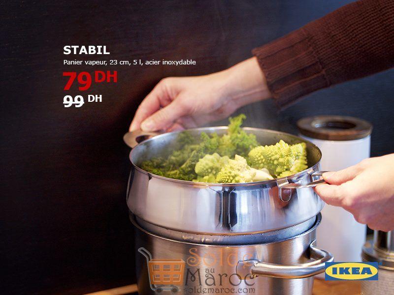 Promo Ikea Maroc Panier Vapeur STABIL 79Dhs au lieu de 99Dhs