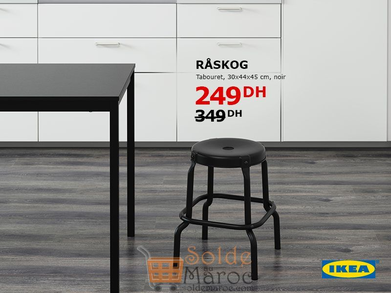 Soldes Ikea Maroc Tabouret RASKOG 249Dhs au lieu de 349Dhs