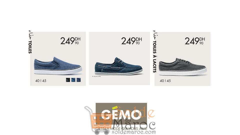 Promo Gémo Maroc Chaussures en Toiles 249DHs