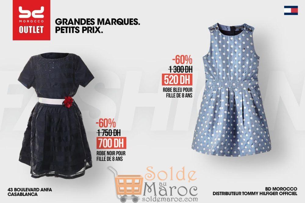 Promo BD Morocco Outlet Robes filles Tommy Hilfiger -60% de réductions