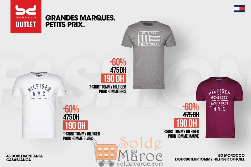 Promo BD Morocco Outlet Tee-shirt Tommy Hilfiger à 60% de réduction