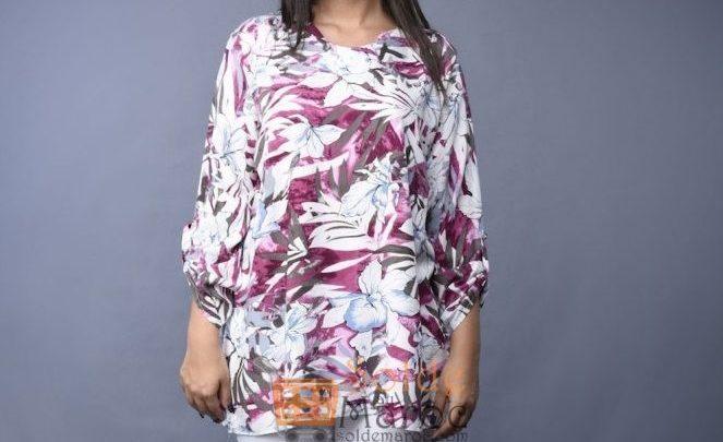 Promo Niswa Tunique Tissu en fibranne imprimé 149 Dhs au lieu de 299Dhs