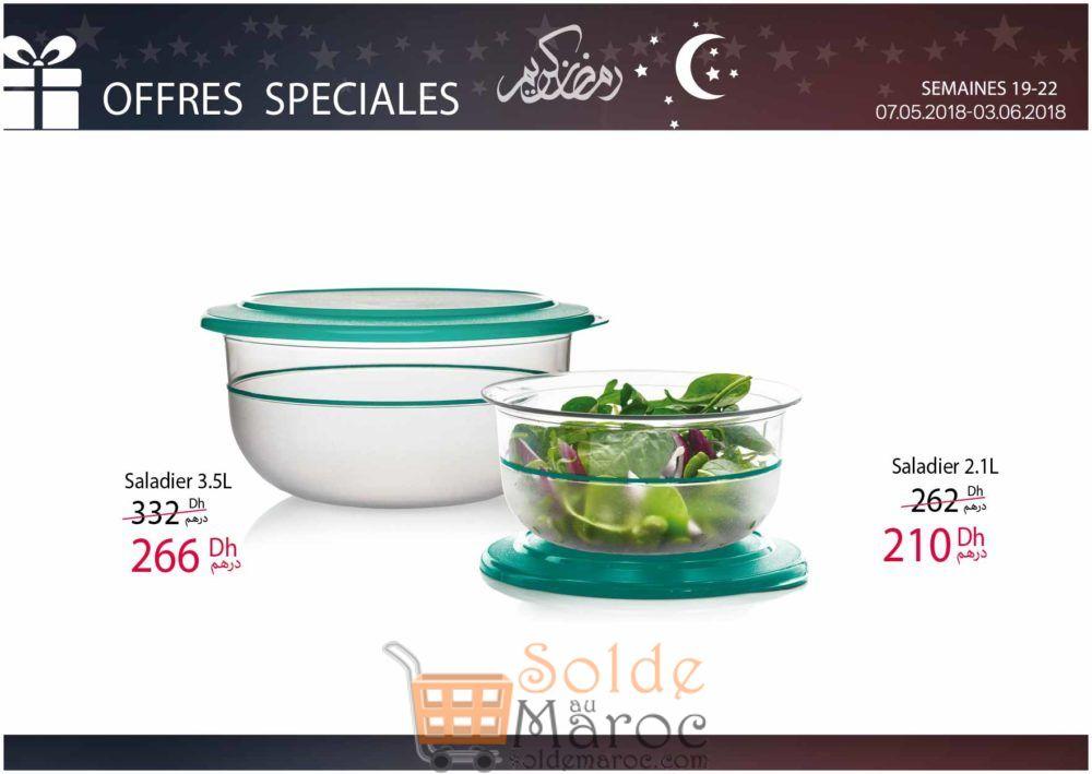 Promo Tupperware Maroc Saladiers Jusqu'au 3 juin 2018