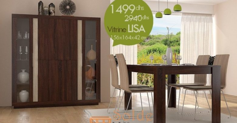 Promo Azura Home Vitrine LISA 1499Dhs au lieu de 2940Dhs