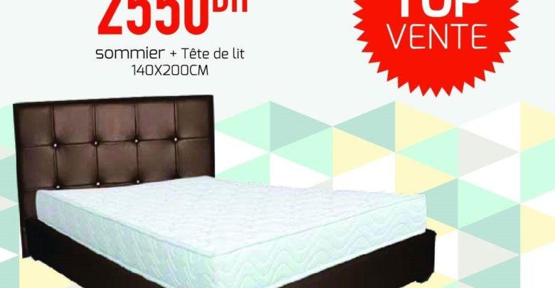 Promo Spéciale Yatout Home Sommier + Tête de lit 2550Dhs au lieu de 2990Dhs