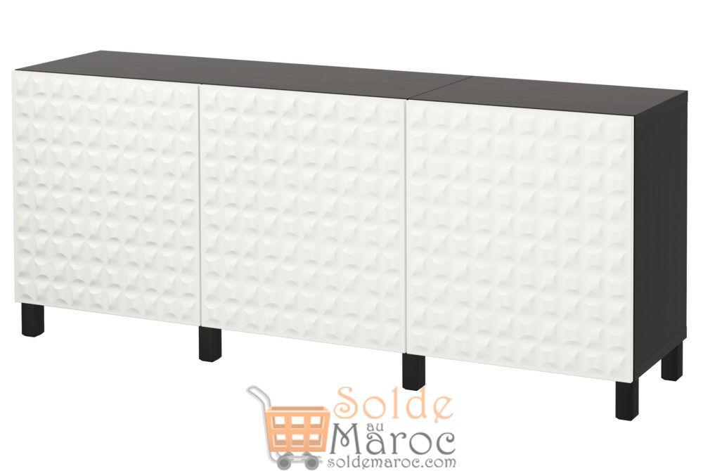 Soldes Ikea Maroc Combiné rangement à portes BESTÅ 2624Dhs au lieu de 3705Dhs