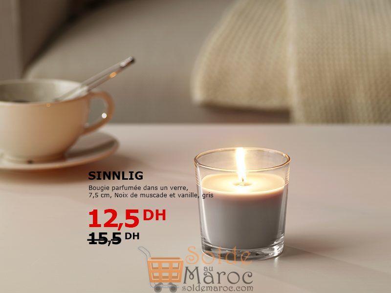 Solde Ikea Maroc Bougie parfumée dans un verre 12.5Dhs au lieu de 15.5Dhs