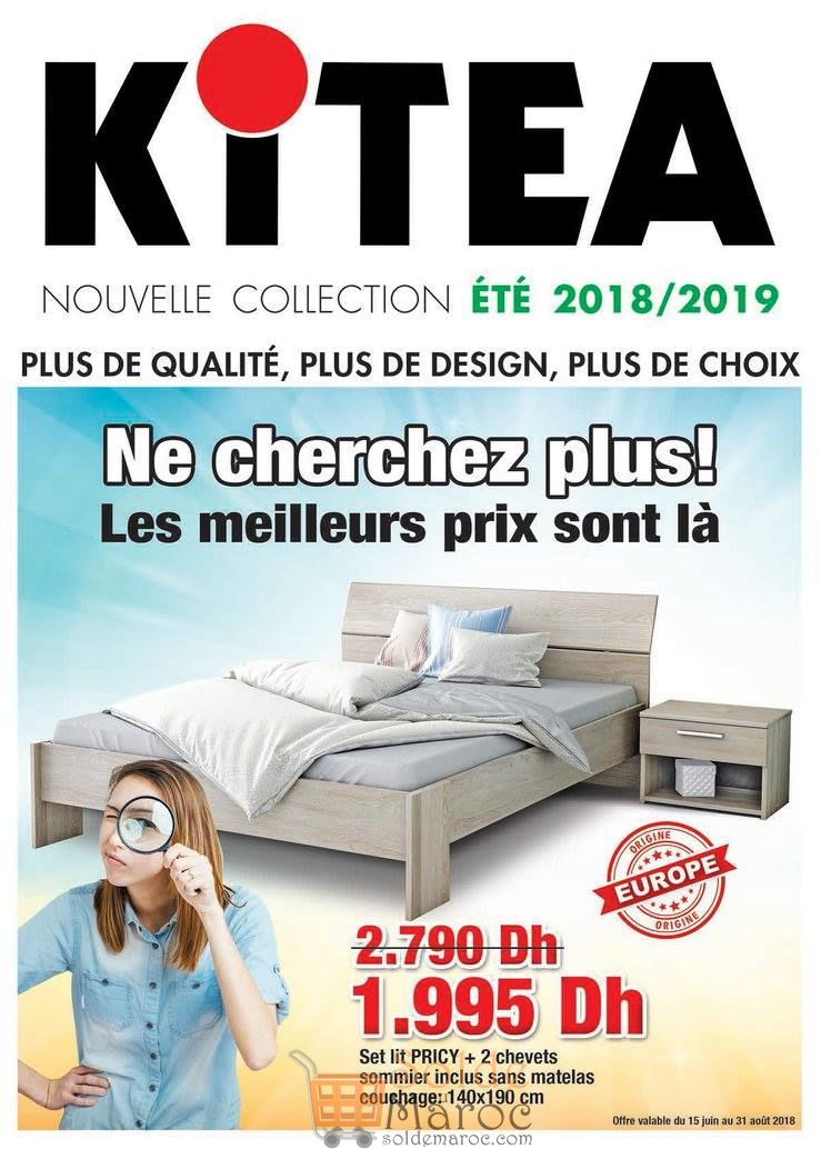 catalogue kitea nouvelle collection t 2018 2019 les soldes et promotions du maroc. Black Bedroom Furniture Sets. Home Design Ideas