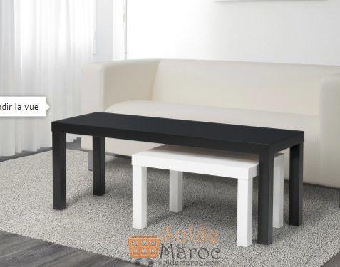 Soldes Ikea Maroc Tables gigognes LACK 2 pièces 325Dhs au lieu de 449Dhs