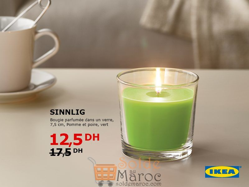 solde ikea maroc bougie parfum e dans un verre 12 5dhs les soldes et promotions du maroc. Black Bedroom Furniture Sets. Home Design Ideas