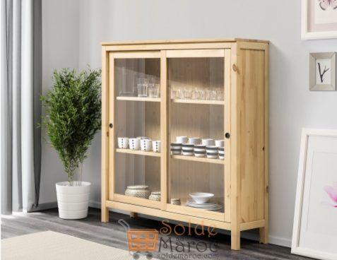soldes ikea maroc vitrine brun clair hemnes 995dhs les soldes et promotions du maroc. Black Bedroom Furniture Sets. Home Design Ideas
