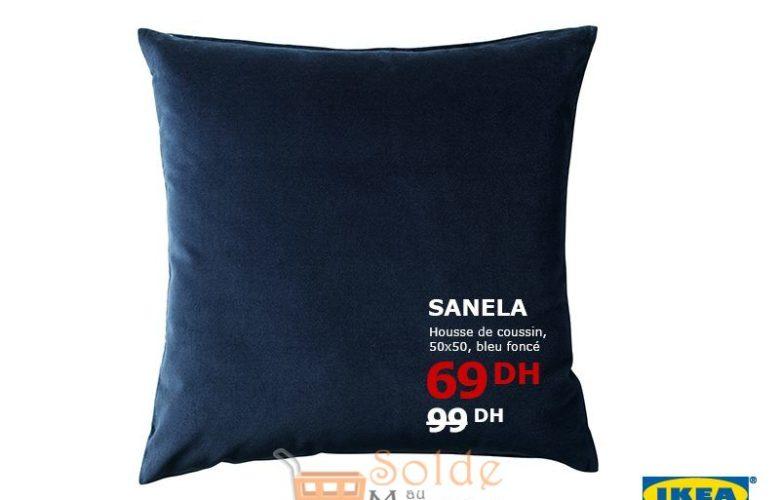 Soldes Ikea Maroc Housse de Coussin 50x50 SANELA 69Dhs au lieu de 99Dhs