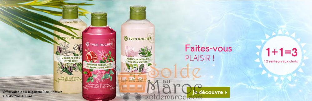 Promo Yves Rocher Maroc 1+1=3 12 senteurs aux choix