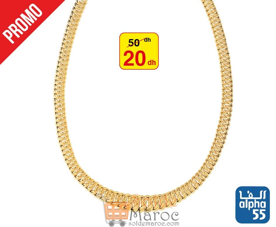Promo Alpha55 Large collection Colliers 20Dhs au lieu de 50Dhs